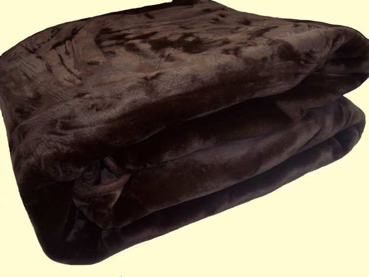 Chocolate Brown Mink Blanket Solaron