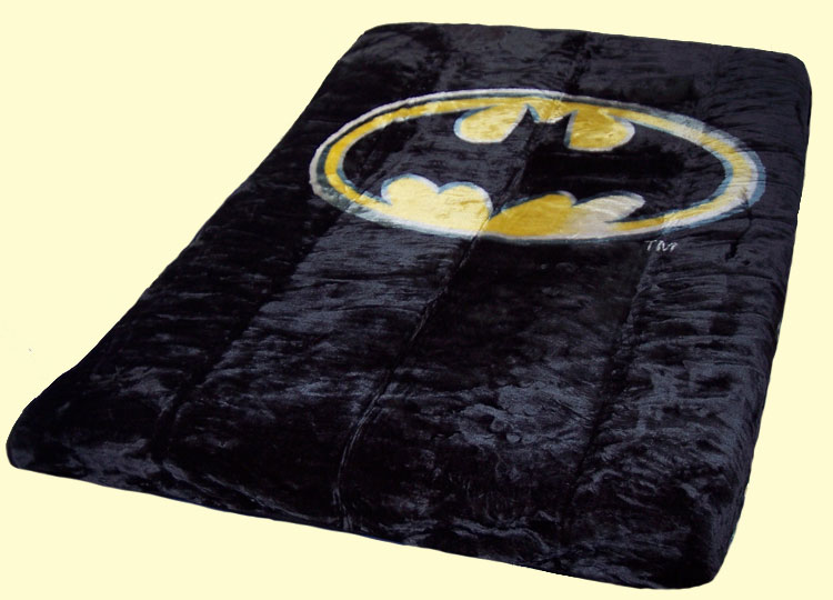 Luxury Queen Batman Emblem Mink Blanket