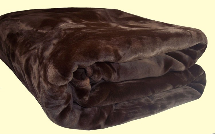 Imported Blankets Solaron King Mink Chocolate Brown Blanket
