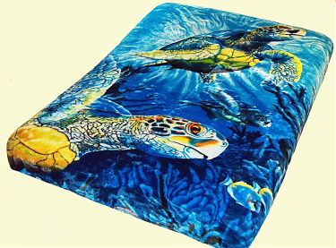 Luxury Queen Sea Turtles Mink Blanket