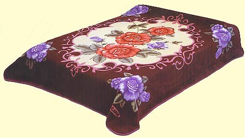 Queen Solaron Rose Mink Blanket