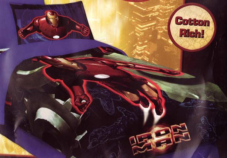 Imported Blankets > Disney Comforter Sets > Twin Iron Man 3PC Comforter Set