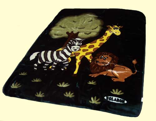 Solaron Baby Animals Mink Blanket