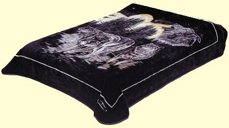 King Solaron  Wolves Mink Blanket