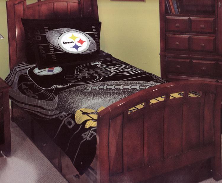 NFL Steelers Full Size 3PC Comforter Set ...