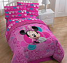 Disney Twin Minnie Mouse 4PC Bedding/Comforter Set