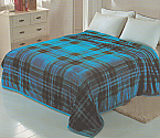 Solaron King Blue Checkered Flannel Blanket
