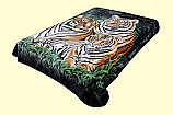 Solaron King 3 Tigers Mink Blanket