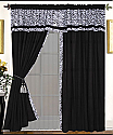Mali 4PC Zebra Curtain Set
