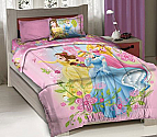 Disney Princesses Twin Bedding 3PC Comforter Set