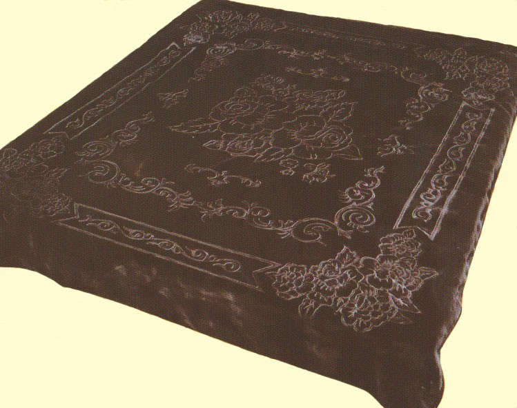 King Classical Black Mink Blanket