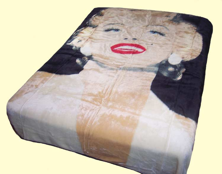 Queen Double-Sided Sherpa Marilyn Monroe Legend Mink Blanket
