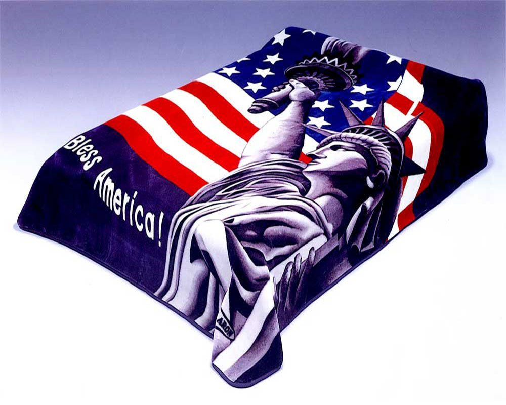 Solaron Twin/Full Statue of Liberty Mink Blanket
