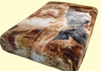 Queen Double-Sided Sherpa Pitbull Mink Blanket