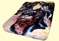 Luxury Queen Big Dogs Mink Blanket