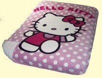 Twin Hello Kitty Borrego Blanket
