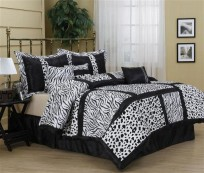 Luxury Amazon Zebra 7PC Comforter Set