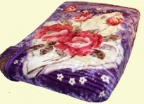 Osaka Two-Ply Floral Mink Blanket