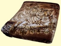 Osaka Two-Ply Tigers Mink Blanket
