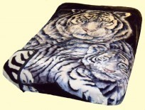 Osaka Two-Ply Tiger & Cub Mink Blanket