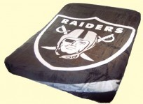 King NFL Raiders Mink Blanket