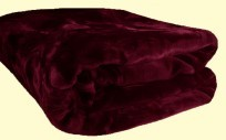 Solaron King Solid Burgundy Mink Blanket