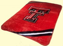 Twin NCAA Texas Tech Mink Blanket