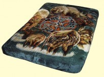 Luxury Queen Animal Spirit Mink Blanket