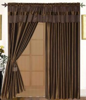 Anna 4PC Curtain Set Brown