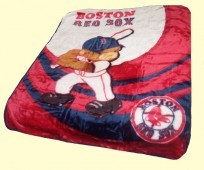 Baby MLB Boston Mink Blanket