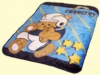 Baby NFL Chargers Mink Blanket