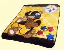 Baby Steelers Mink Blanket