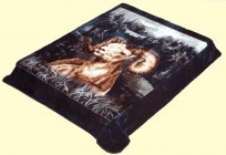 Solaron Queen BigHorn Sheep Mink Blanket