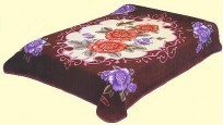 Queen Solaron Rose Burgundy Mink Blanket