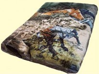 Luxury Signature Collection Queen Horses Mink Blanket