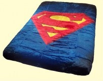 Twin Superman Shield Mink Blanket