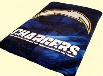 Twin NFL Chargers Mink Blanket