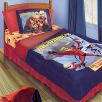 Twin Incredibles 4PC Comforter Set