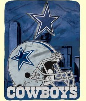 Twin NFL Cowboys Raschel Blanket
