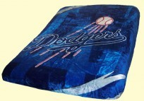 MLB Dodgers Royal Plush Mink Blanket
