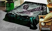 Solaron Twin/Full Eagle Hunter Green Mink Blanket