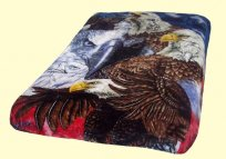 Luxury Queen Patriotic Mink Blanket