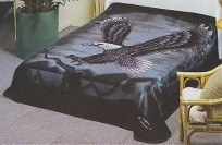 Solaron Twin/Full Eagle Black Mink Blanket