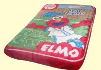 Twin Elmo Baseball Mink Blanket