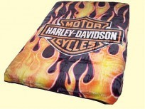 Twin Harley Fire Mink Blanket