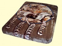 Luxury Queen Stallion, Horse Shield Mink Blanket