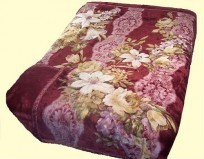 Koyo King Two-Ply Burgundy Mink Blanket