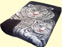 Osaka Queen Two-Ply Black Cubs Mink Blanket