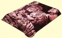 Solaron Queen Tiger and Lion Mink Blanket