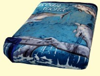 Osaka Two-Ply Queen Ocean World Mink Blanket